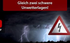 Schwere Unwetterlagen am 10. Juni und vom 11. bis 12. Juni
