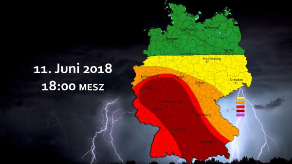 Schwere Unwetterlage am 11. und 12. Juni 2018