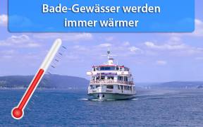 Warme Wassertemperaturen Ende Juli 2018