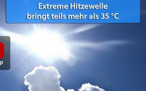 Extreme Hitzewellen Ende Juli 2018