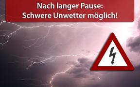 Schwere Unwetterlage am 08. August 2018