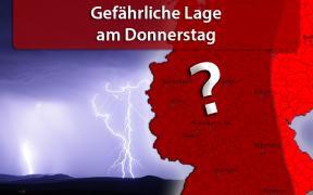 Schwere Unwetterlage am 09. August 2018