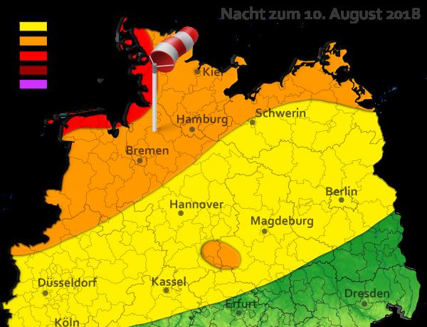 Sturm am 10. August 2018