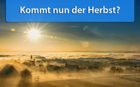 Temperaturtrend Ende August und Anfang September 2018