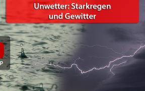 Unwetter: Starkregen und Gewitter am 28. August 2018