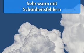 Sehr warm mit Schauern und Gewittern Anfang September 2018