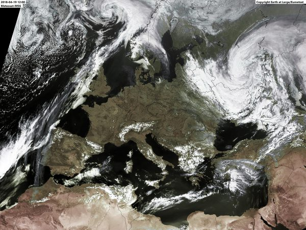 Satellitenbild April 2018