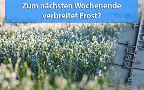 Frost Ende Oktober 2018
