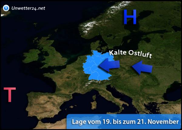 Kalter Ostwind Mitte November 2018