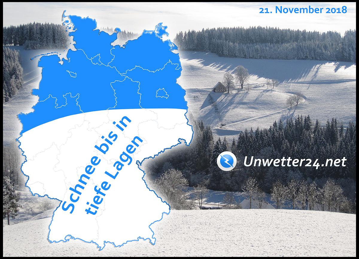 Wintereinbruch Ende November 2018