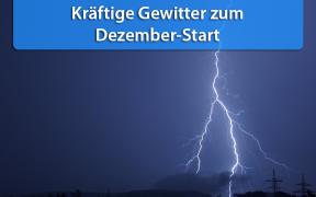 Schauer und Gewitter Anfang Dezember 2018