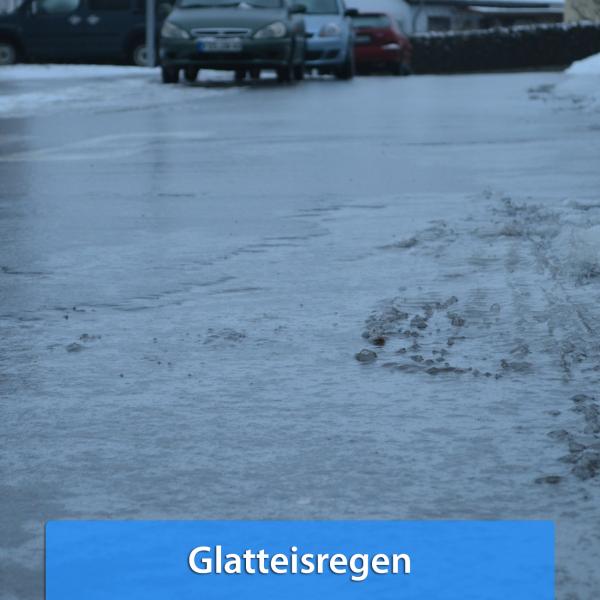 Ende November 2018 Glatteisregen