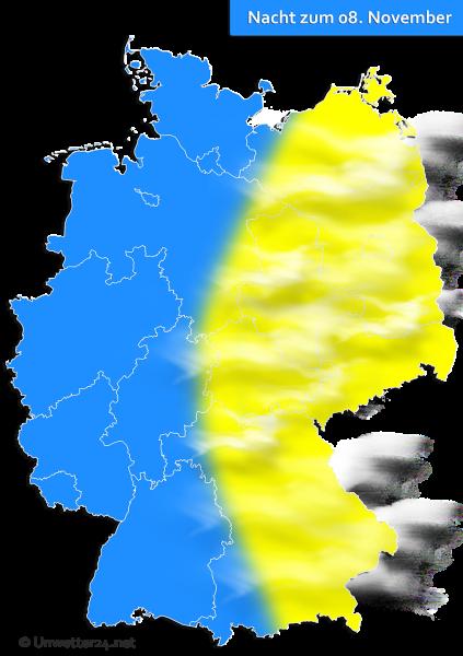 Nebel in der Nacht zum 08 November