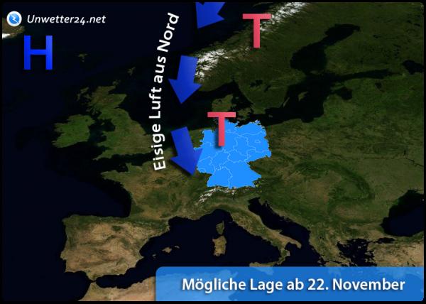 Eisiger Nordwind Ende November 2018