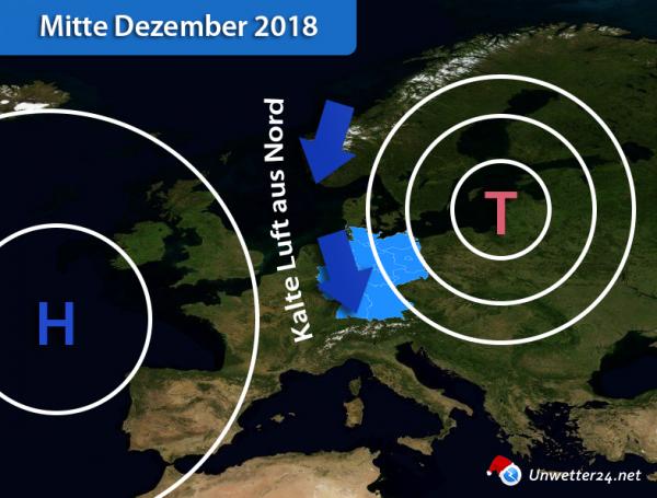 Wetterlage Mitte Dezember 2018