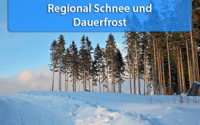 Schnee und Dauerfrost Anfang und Mitte Januar 2019