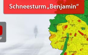 """Schneesturm """"Benjamin"""" 2019"""
