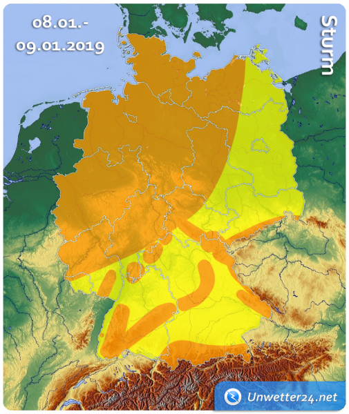 08. bis 09. Januar 2019 Sturm