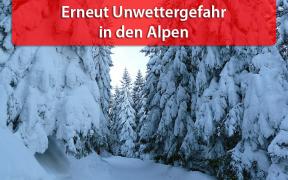 Unwetter in den Alpen Mitte Januar 2019