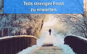 Strenger Frost Ende Januar 2019