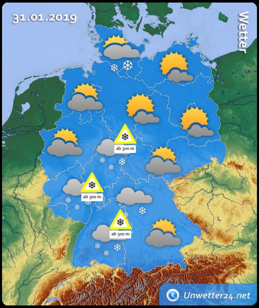 Wetter am 31. Januar 2019