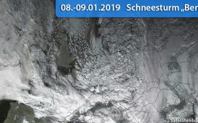 Schneesturm Benjamin 2019