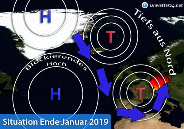 Wetterlage Ende Januar 2019