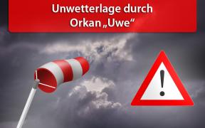 Orkan Uwe am 10. Februar 2019