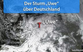 Sturm Uwe 2019 über Deutschland