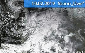 Sturm Uwe am 10. Februar 2019