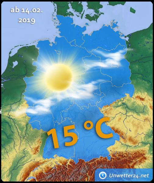 Wetterlage ab 14. Februar 2019