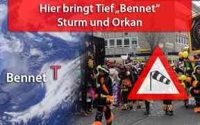 "Sturm ""Bennet"" an Rosenmontag 2019"