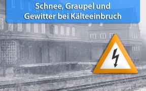 Schnee und Graupel am 2. und 3. April 2019