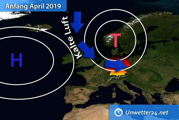 Kaltluft Anfang April 2019