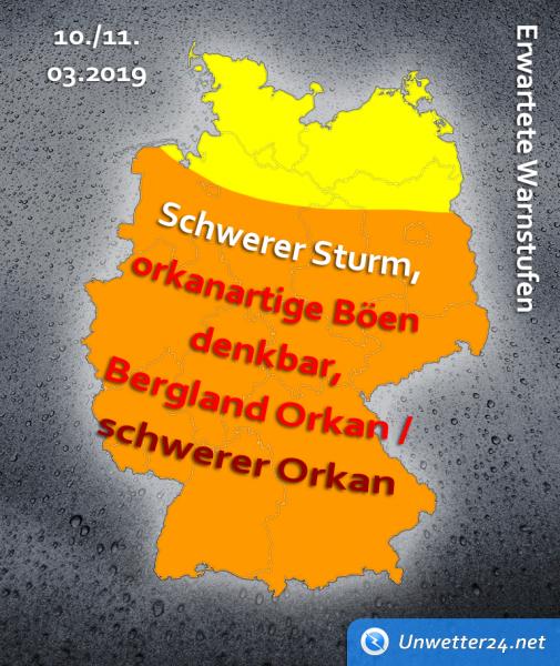 schwere Sturmlage am 9. März 2019