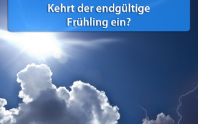 Warme Temperaturen Mitte April 2019