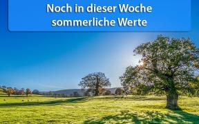 Sommerliche Temperaturen Ende April 2019