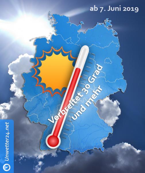 Extreme Hitze Anfang und Mitte Juni 2019