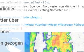 """Gewittertief """"Jörn"""" 2019 München"""