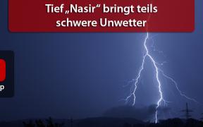 "schwere Unwetter Tief ""Nasir"" 2019"