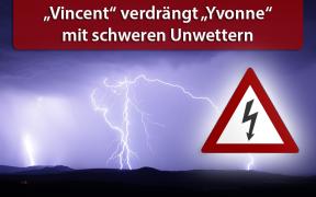 """Tief """"Vincent"""" bringt ab 26. Juli 2019 schwere Unwetter"""