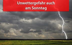 """Unwetter durch Tief """"Vincent"""" am 28. Juli 2019"""