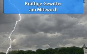 Gewittertief Wolfgang am 31. Juli 2019