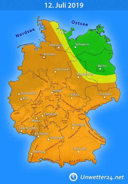 Gewitter durch Tief Quinctilius am 12. Juli 2019
