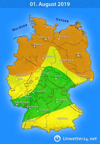Gewittertief Wolfgang am 01. August 2019