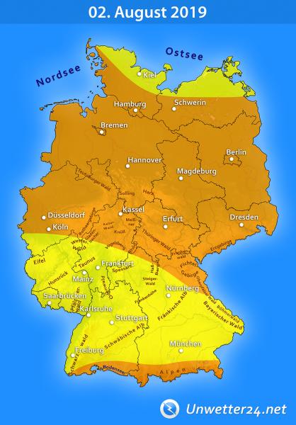 Gewittertief Wolfgang am 02. August 2019