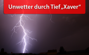 Unwetter durch Tief Xavier am 6. August 2019