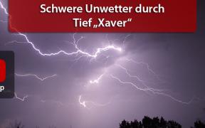 Schwere Unwetter durch Tief Xavier am 6. und 7. August 2019