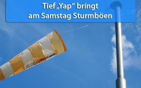 Sturmtief Yap am 10. August 2019