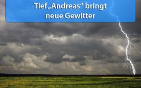 Gewitter durch Tief Andreas am 15. August 2019